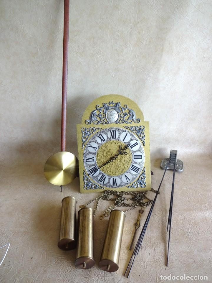 RELOJ DE TORRE TEMPUS FUGIT CON SONEIRAS WESTMINSTER TOCA CUARTOS FUNCIONA (Relojes - Pie Carga Manual)