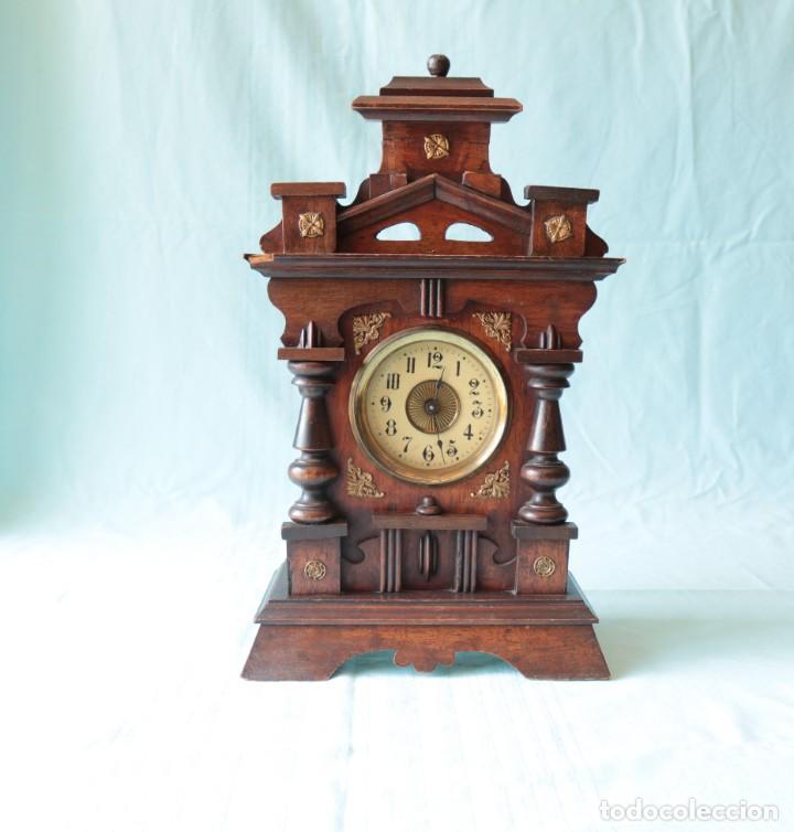 Relojes de pie: Reloj austriaca con despertador organillo. Austrian clock with barrel organ alarm clock. - Foto 2 - 260028285