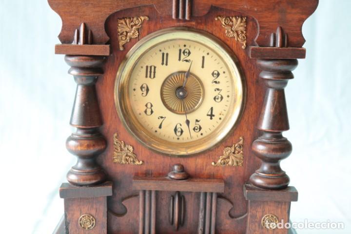 Relojes de pie: Reloj austriaca con despertador organillo. Austrian clock with barrel organ alarm clock. - Foto 3 - 260028285