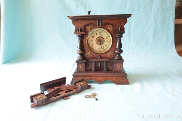 Relojes de pie: Reloj austriaca con despertador organillo. Austrian clock with barrel organ alarm clock. - Foto 4 - 260028285