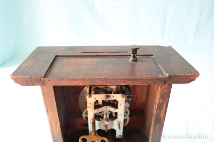 Relojes de pie: Reloj austriaca con despertador organillo. Austrian clock with barrel organ alarm clock. - Foto 6 - 260028285