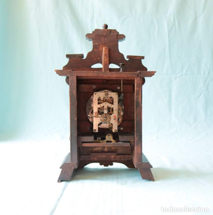 Relojes de pie: Reloj austriaca con despertador organillo. Austrian clock with barrel organ alarm clock. - Foto 7 - 260028285