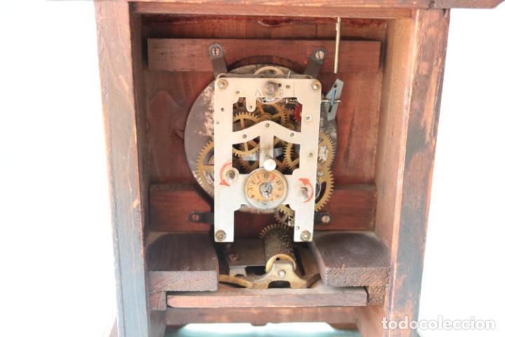 Relojes de pie: Reloj austriaca con despertador organillo. Austrian clock with barrel organ alarm clock. - Foto 8 - 260028285