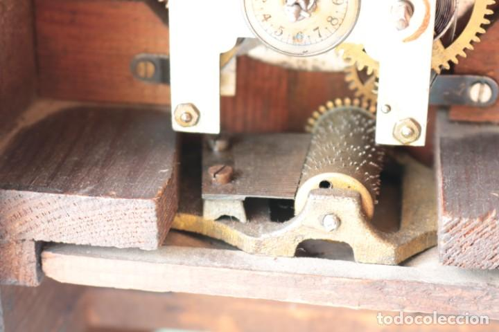 Relojes de pie: Reloj austriaca con despertador organillo. Austrian clock with barrel organ alarm clock. - Foto 9 - 260028285