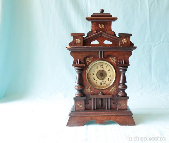 Relojes de pie: Reloj austriaca con despertador organillo. Austrian clock with barrel organ alarm clock. - Foto 11 - 260028285
