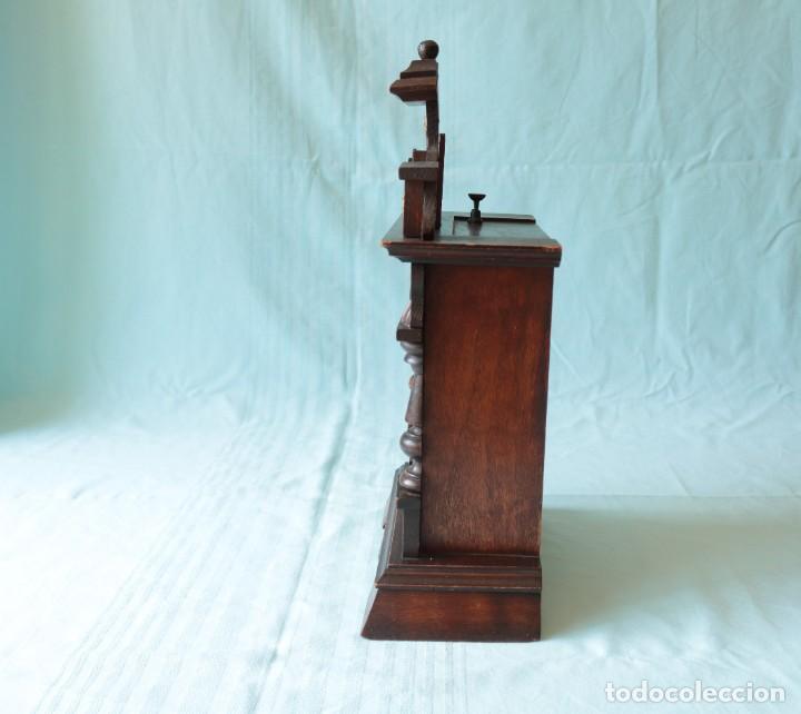 Relojes de pie: Reloj austriaca con despertador organillo. Austrian clock with barrel organ alarm clock. - Foto 14 - 260028285
