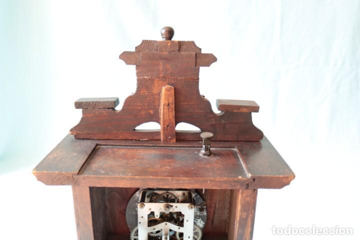 Relojes de pie: Reloj austriaca con despertador organillo. Austrian clock with barrel organ alarm clock. - Foto 16 - 260028285