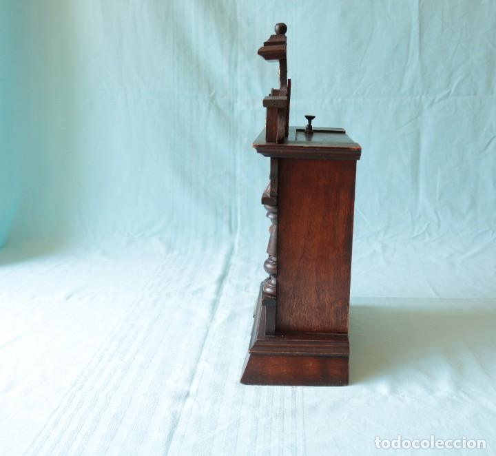 Relojes de pie: Reloj austriaca con despertador organillo. Austrian clock with barrel organ alarm clock. - Foto 18 - 260028285
