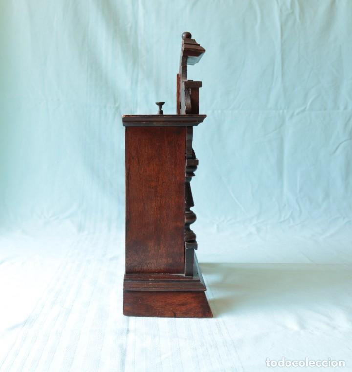 Relojes de pie: Reloj austriaca con despertador organillo. Austrian clock with barrel organ alarm clock. - Foto 22 - 260028285
