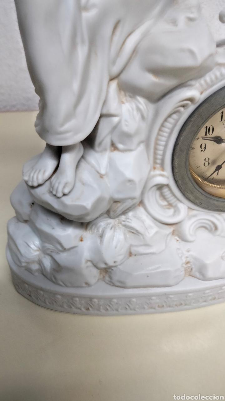 Relojes de pie: ANTIGUO RELOJ EN PORCELANA BISCUIS - Foto 6 - 262805835