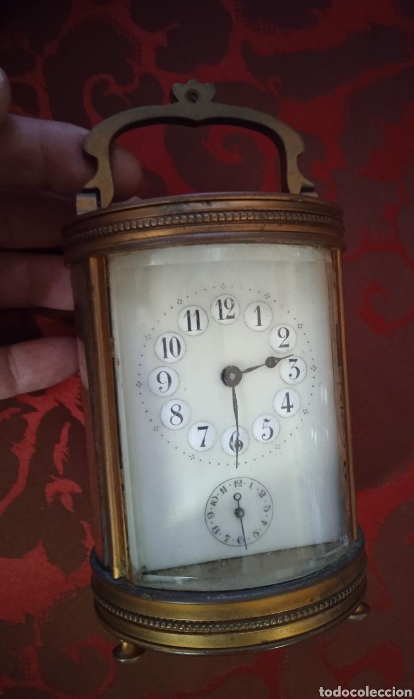 MUY ANTIGUO RELOJ DE BRONCE SIGLO XIX DE CARRUAJE (Relojes - Pie Carga Manual)