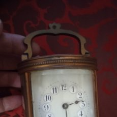 Relógios de pé: MUY ANTIGUO RELOJ DE BRONCE SIGLO XIX DE CARRUAJE. Lote 263801860