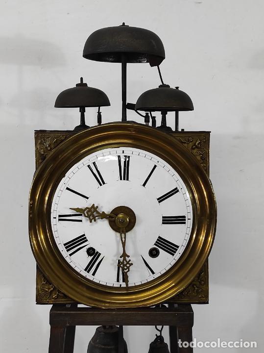 Relojes de pie: Antiguo Reloj Morez - Sonería de Cuatro Campanas - Completo - Funciona - S. XIX - Foto 2 - 265536169