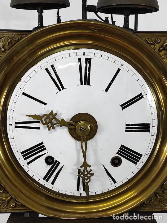 Relojes de pie: Antiguo Reloj Morez - Sonería de Cuatro Campanas - Completo - Funciona - S. XIX - Foto 3 - 265536169