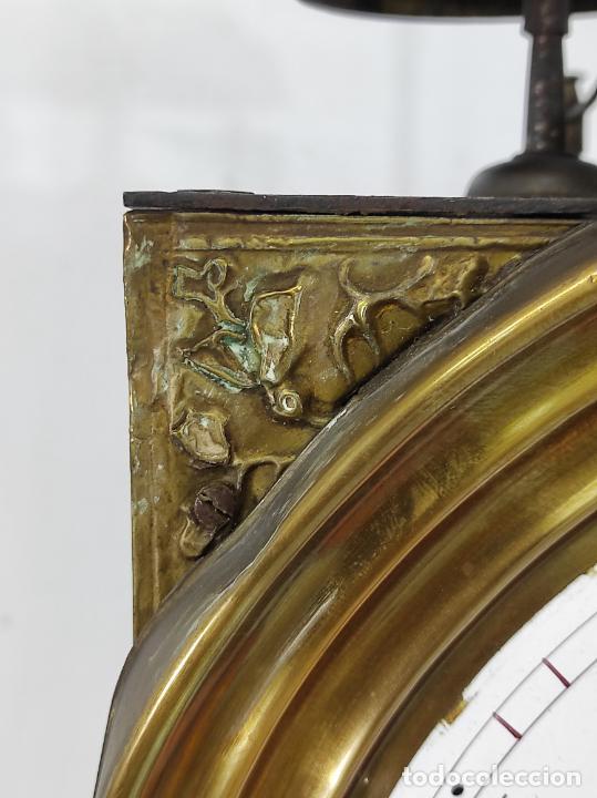 Relojes de pie: Antiguo Reloj Morez - Sonería de Cuatro Campanas - Completo - Funciona - S. XIX - Foto 4 - 265536169