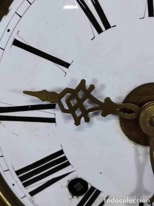 Relojes de pie: Antiguo Reloj Morez - Sonería de Cuatro Campanas - Completo - Funciona - S. XIX - Foto 6 - 265536169