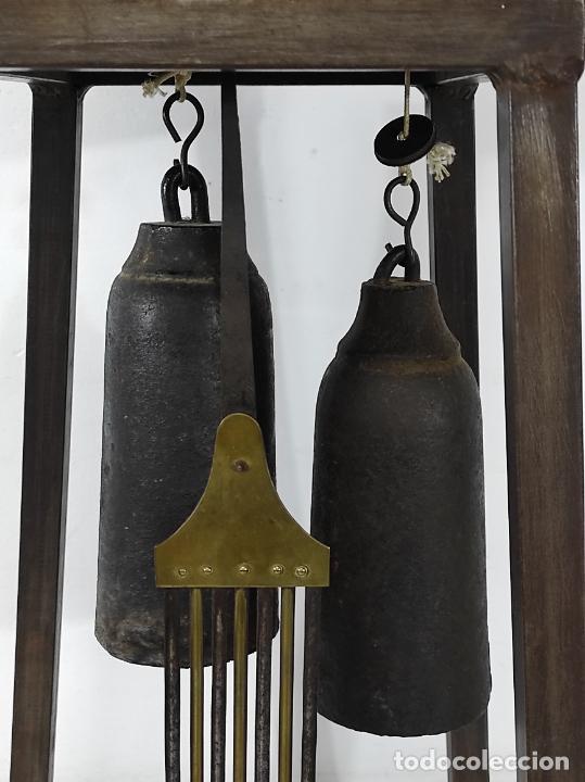 Relojes de pie: Antiguo Reloj Morez - Sonería de Cuatro Campanas - Completo - Funciona - S. XIX - Foto 10 - 265536169