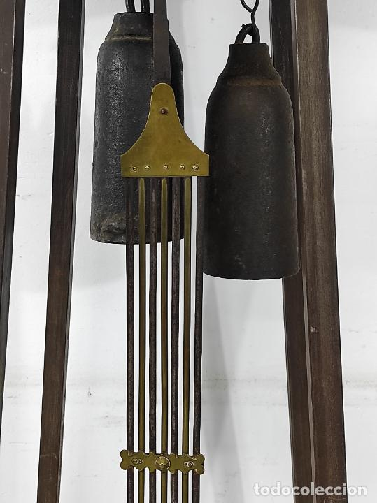 Relojes de pie: Antiguo Reloj Morez - Sonería de Cuatro Campanas - Completo - Funciona - S. XIX - Foto 11 - 265536169
