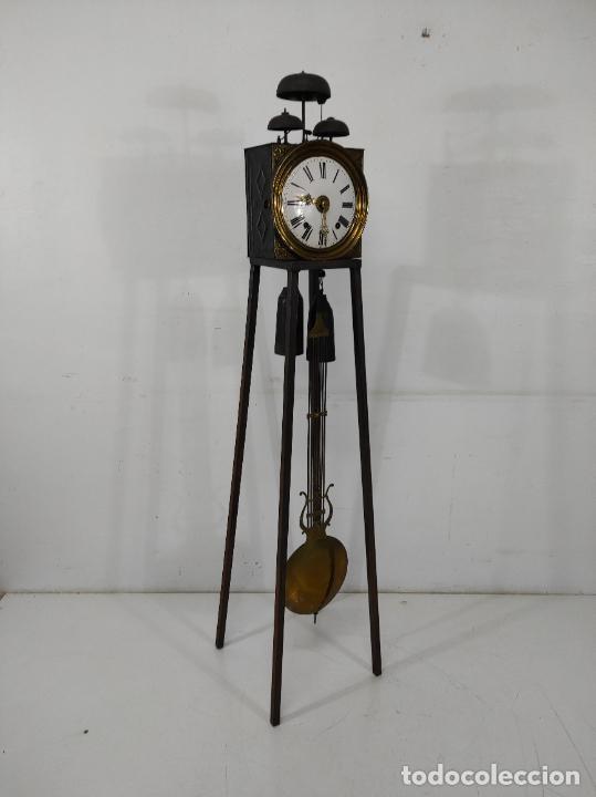 Relojes de pie: Antiguo Reloj Morez - Sonería de Cuatro Campanas - Completo - Funciona - S. XIX - Foto 16 - 265536169