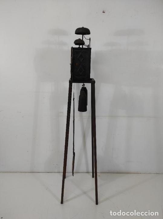 Relojes de pie: Antiguo Reloj Morez - Sonería de Cuatro Campanas - Completo - Funciona - S. XIX - Foto 17 - 265536169