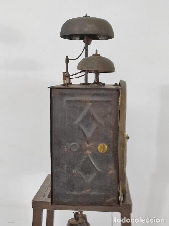 Relojes de pie: Antiguo Reloj Morez - Sonería de Cuatro Campanas - Completo - Funciona - S. XIX - Foto 18 - 265536169