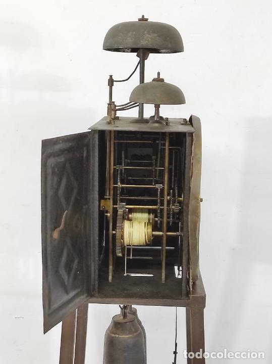 Relojes de pie: Antiguo Reloj Morez - Sonería de Cuatro Campanas - Completo - Funciona - S. XIX - Foto 19 - 265536169