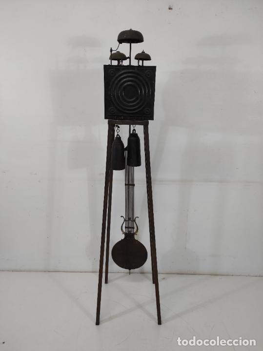 Relojes de pie: Antiguo Reloj Morez - Sonería de Cuatro Campanas - Completo - Funciona - S. XIX - Foto 22 - 265536169