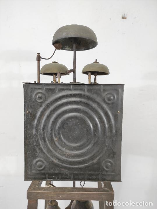 Relojes de pie: Antiguo Reloj Morez - Sonería de Cuatro Campanas - Completo - Funciona - S. XIX - Foto 23 - 265536169