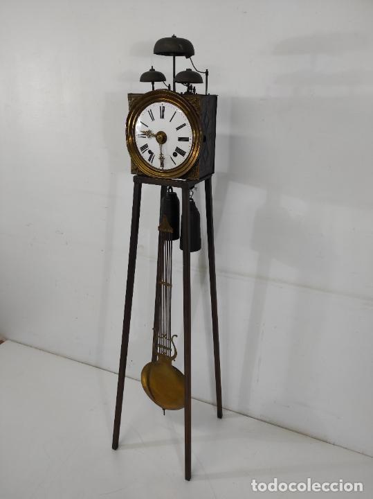 Relojes de pie: Antiguo Reloj Morez - Sonería de Cuatro Campanas - Completo - Funciona - S. XIX - Foto 28 - 265536169