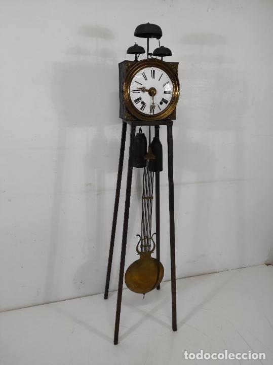 Relojes de pie: Antiguo Reloj Morez - Sonería de Cuatro Campanas - Completo - Funciona - S. XIX - Foto 29 - 265536169