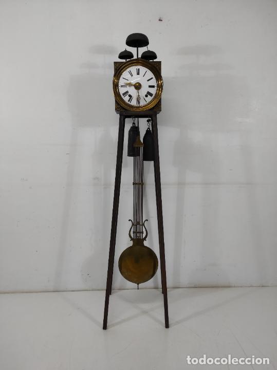 Relojes de pie: Antiguo Reloj Morez - Sonería de Cuatro Campanas - Completo - Funciona - S. XIX - Foto 30 - 265536169
