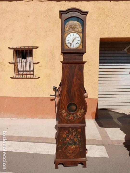 RELOJ DE PIE - ANTIGUO . (Relojes - Pie Carga Manual)