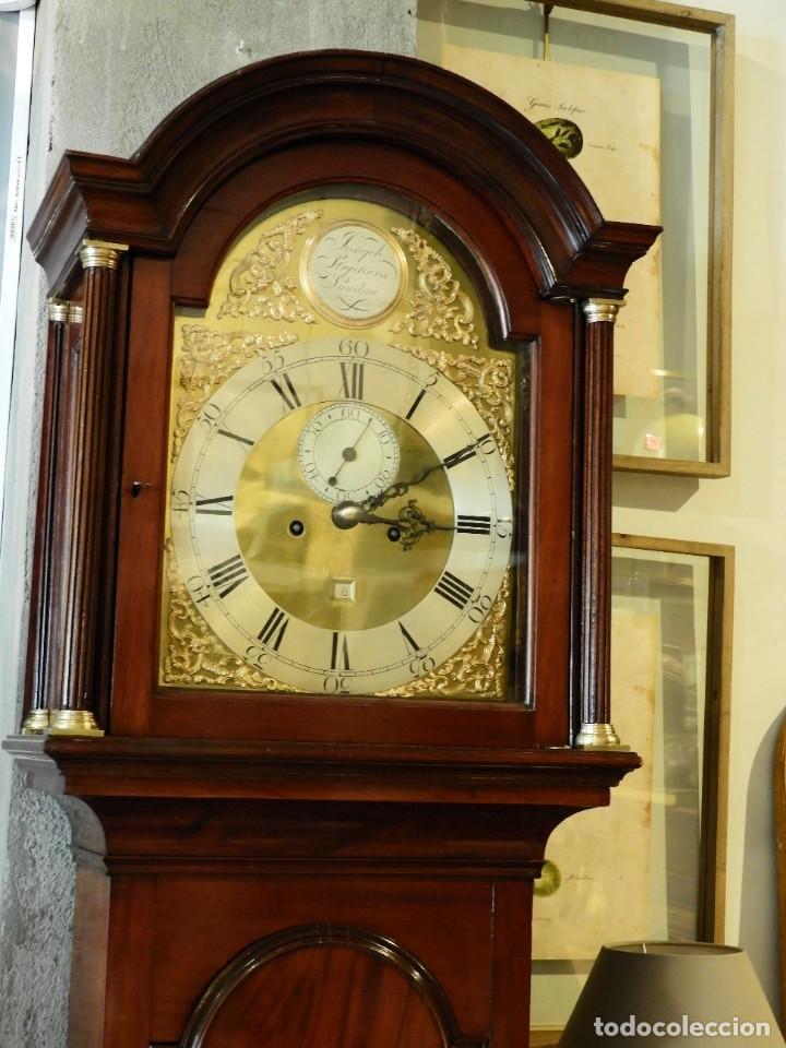 Relojes de pie: FANTASTICO RELOJ ANTIGUO DE CAOBA CON SONERIA CALENDARIO Y SEGUNDERO - Foto 2 - 268401074