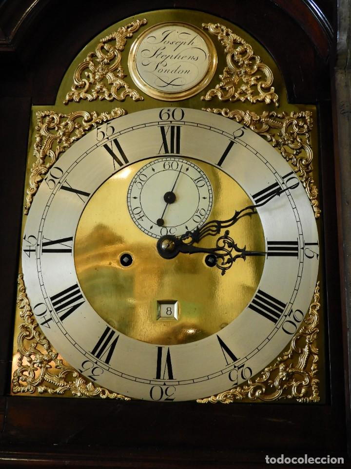 Relojes de pie: FANTASTICO RELOJ ANTIGUO DE CAOBA CON SONERIA CALENDARIO Y SEGUNDERO - Foto 5 - 268401074