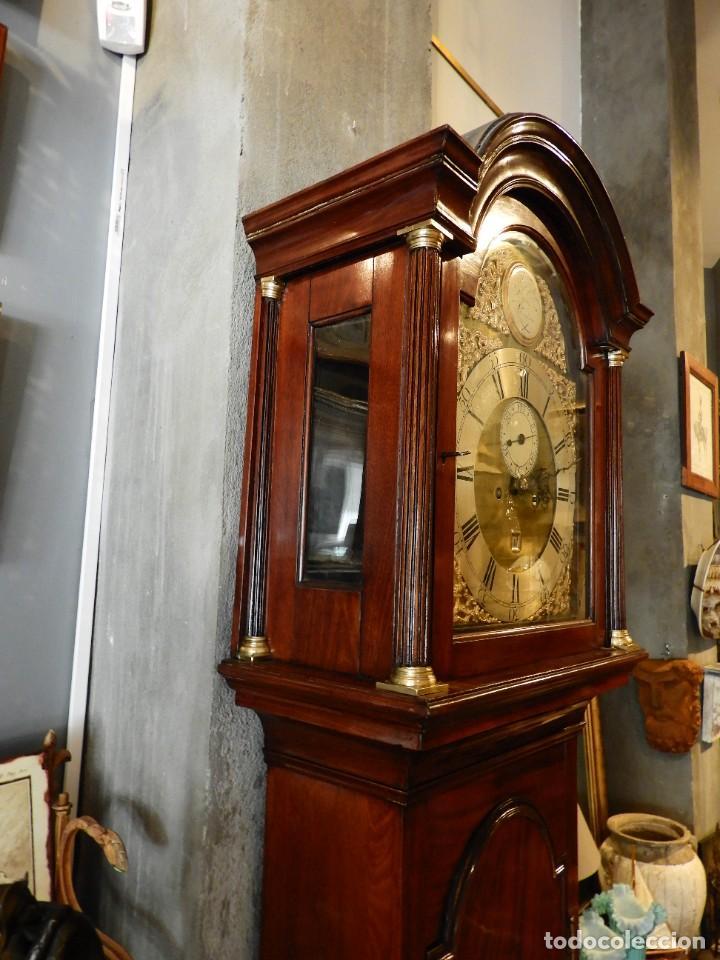 Relojes de pie: FANTASTICO RELOJ ANTIGUO DE CAOBA CON SONERIA CALENDARIO Y SEGUNDERO - Foto 7 - 268401074