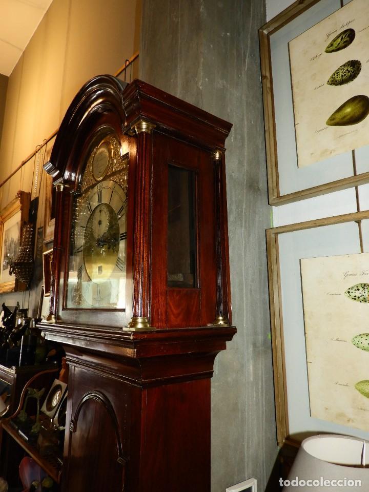 Relojes de pie: FANTASTICO RELOJ ANTIGUO DE CAOBA CON SONERIA CALENDARIO Y SEGUNDERO - Foto 8 - 268401074