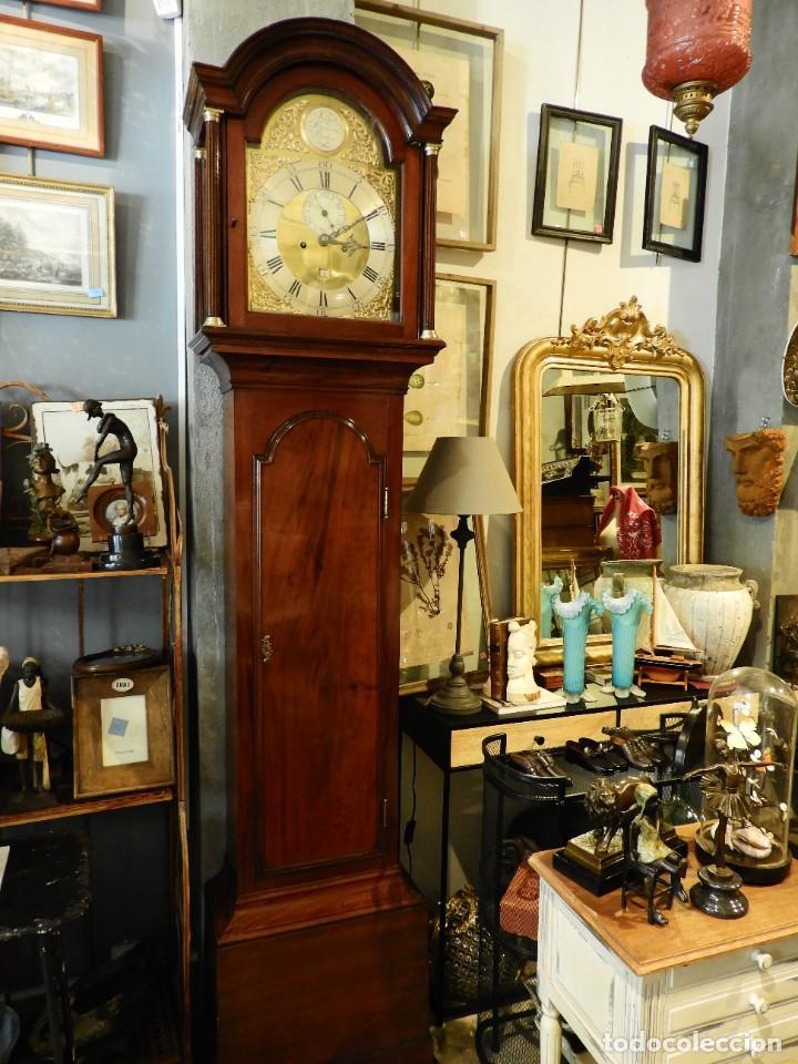 Relojes de pie: FANTASTICO RELOJ ANTIGUO DE CAOBA CON SONERIA CALENDARIO Y SEGUNDERO - Foto 10 - 268401074