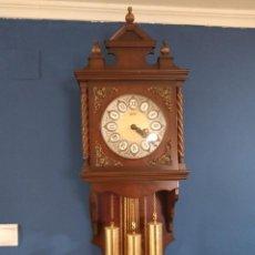 Relojes de pie: ANTIGUO Y BONITO RELOJ DE PARED CARRILLÓN J. PASTOR. Lote 276394563