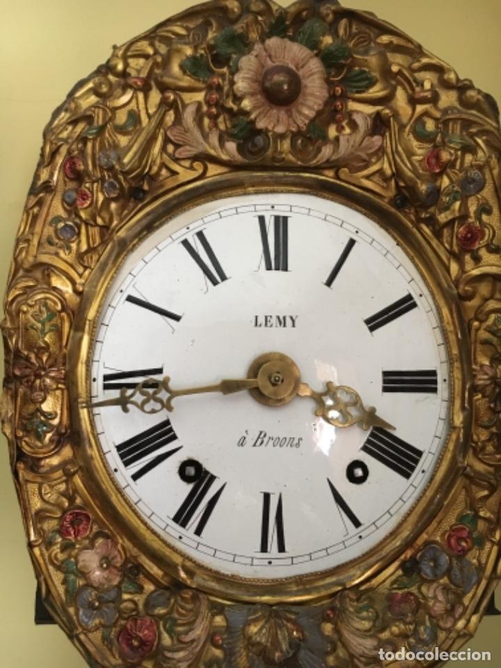 Relojes de pie: ANDORRA - ANTIGUO RELOJ MOREZ - SIGLO XIX – PENDULO PINTURA CASA DE LA VALL ANDORRA - Foto 2 - 277538188