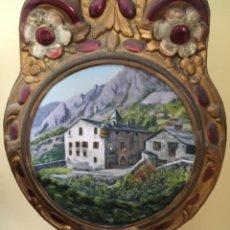 Relojes de pie: ANDORRA - ANTIGUO RELOJ MOREZ - SIGLO XIX – PENDULO PINTURA CASA DE LA VALL ANDORRA. Lote 277538188