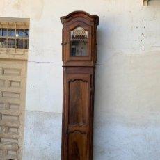 Relojes de pie: RELOJ PIE CAJA ALTA EPOCA LUIS XVI FIN S XVIII MAQUINARIA MADERA NOGAL FRANCIA 263X52X33CMS. Lote 286333513