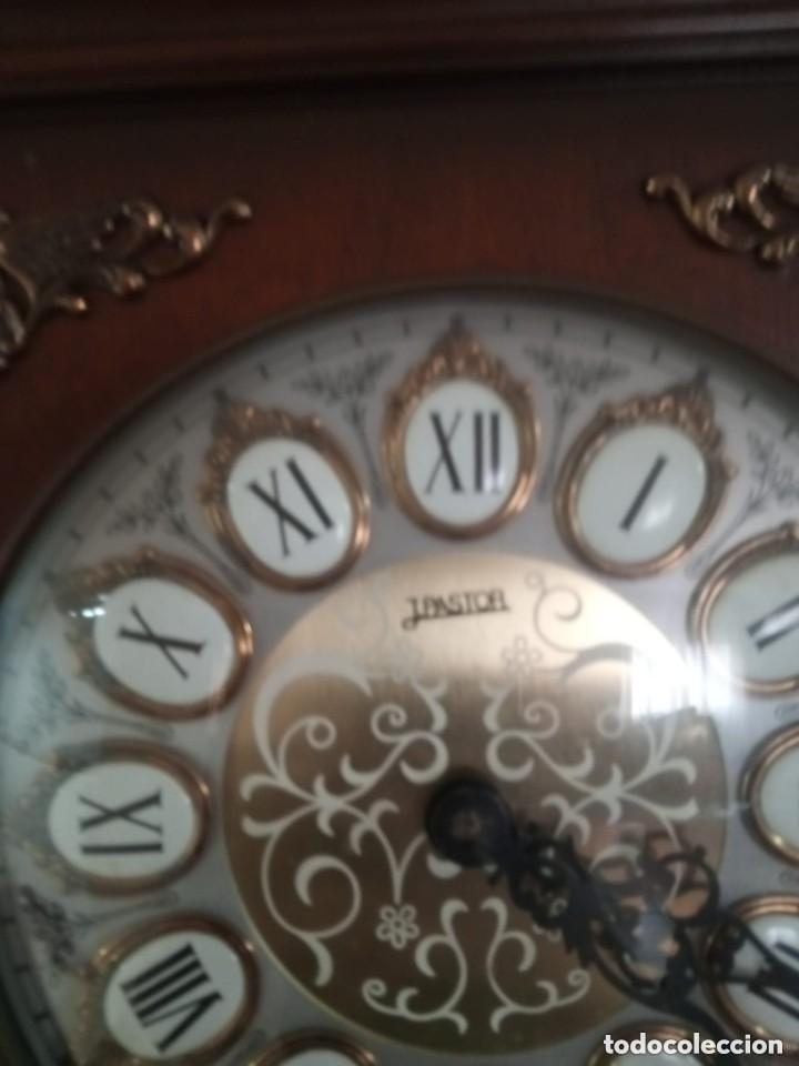 Relojes de pie: Antiguo y bonito reloj de pared carrillón j. pastor - Foto 7 - 287408698