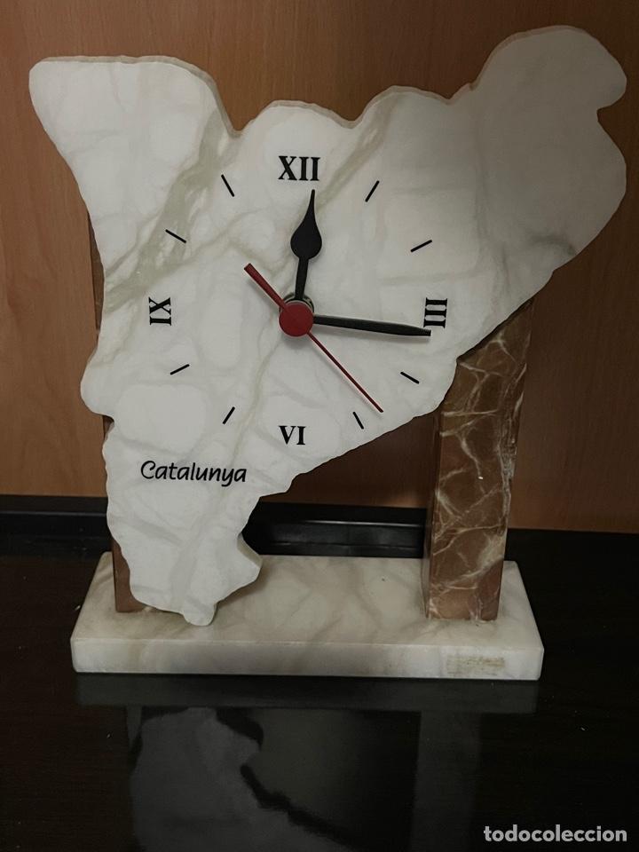 RELOJ MAPA CATALUNYA DE MARMOL (Relojes - Pie Carga Manual)
