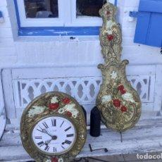 Relojes de pie: MECANISMO COMPLETO DE RELOJ MOREZ, REVISADO Y RESTAURADO. Lote 288220313