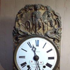 Relojes de pie: RELOJ MOREZ CON PÉNDULO DE LIRA DE 11 VARILLAS. EN ESTADO DE MARCHA. PRIMERA MITAD DEL XIX.. Lote 293226633
