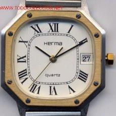 Relojes de pulsera: HERMA RELOJ DE CABALLERO SUIZO. (CUARZO) ESTILO CARTIER (NOS = NEW OLD STOCK). Lote 90849939