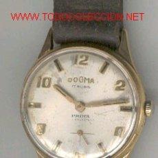 Relojes de pulsera: RELOJ DE ÉPOCA DOGMA, 17 RUBÍS, FUNCIONANDO. Lote 25933245