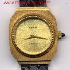Relojes de pulsera: HERMA RELOJ DE PULSERA SRA (CUERDA)(NOS = NEW OLD STOCK). Lote 27551026