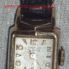 Relojes de pulsera: RELOJ PULSERA PARA DAMA, PLAQUE DE ORO!. Lote 26906384