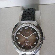 Relojes de pulsera: RELOJ DE CUERDA ANTIGUO SUIZO ODIN NOS CADETE OSCURO. Lote 27592064
